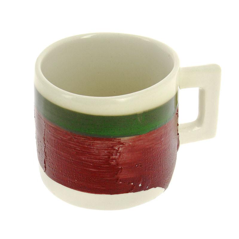 Rothko Green on Maroon Mug