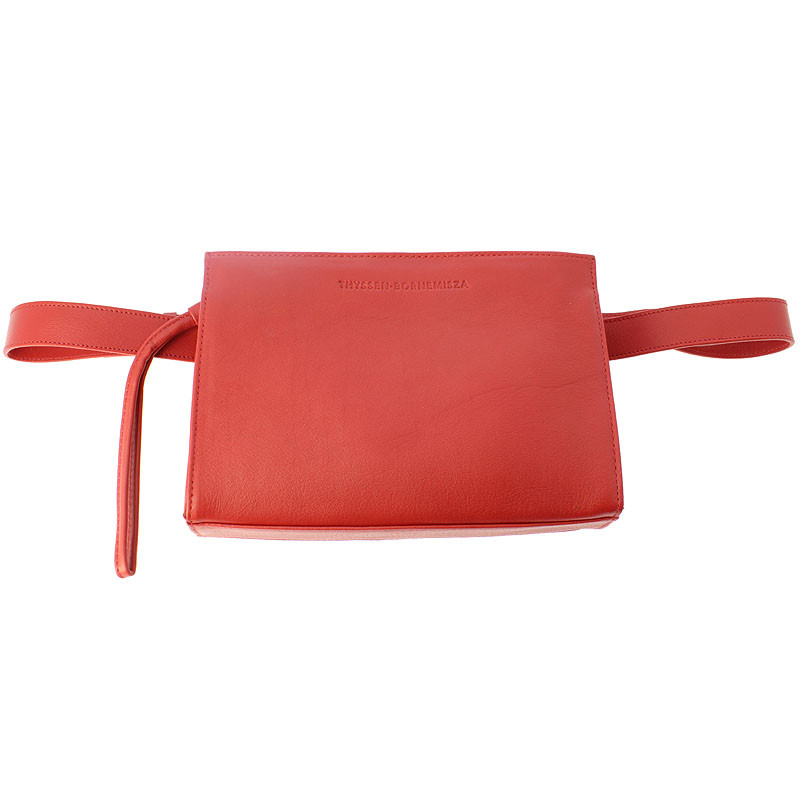 Leather Fanny Pack: Red