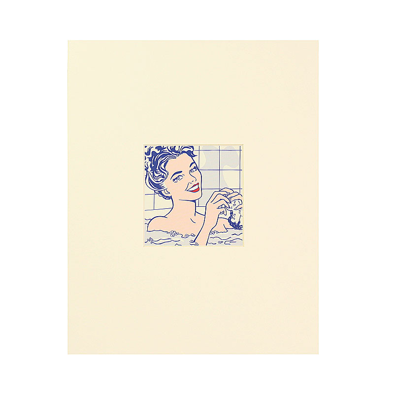 Passe partout postcard Woman in the Bath