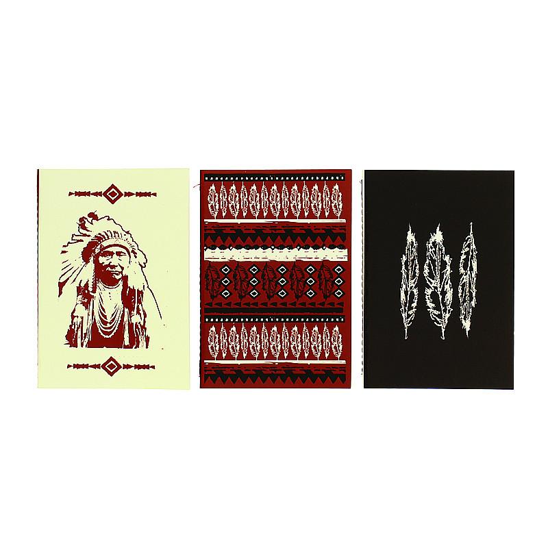 Set three Wild West notebooks