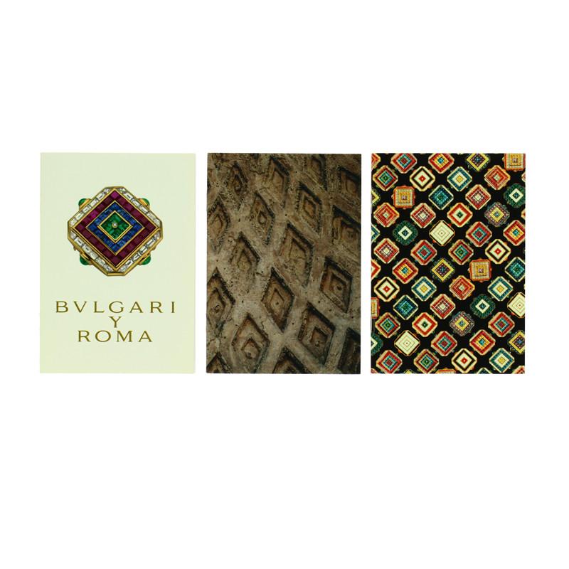 Set three Bulgari notebooks