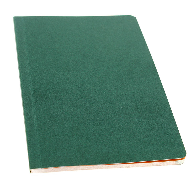 Green cover with orange pages Notebook