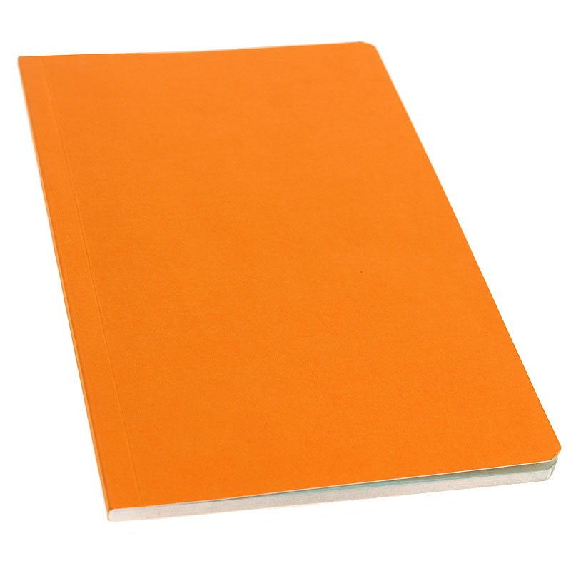Orange cover with sky blue pages Notebook