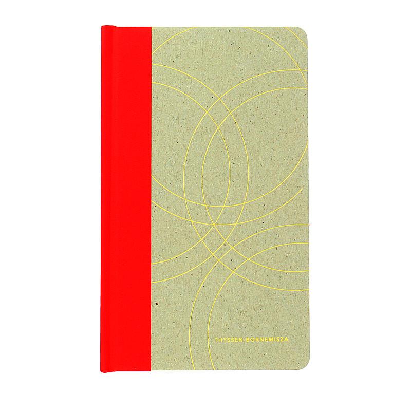 Red cardboard notebook