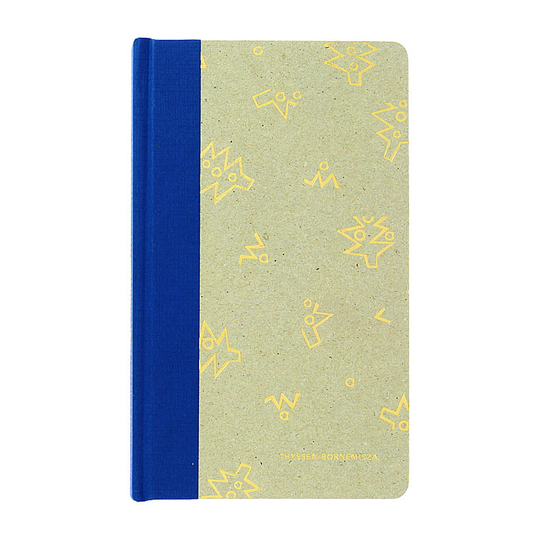 Blue cardboard notebook