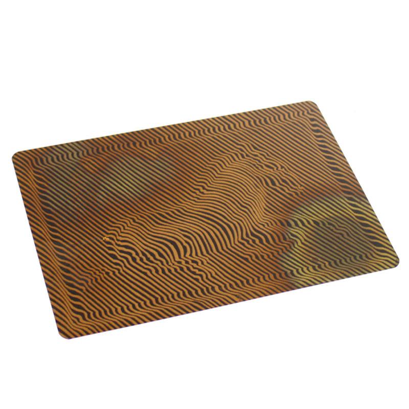 Zebra Vasarely copper postcards