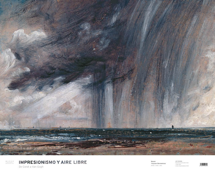 Poster Rainstorm over the Sea. John Constable