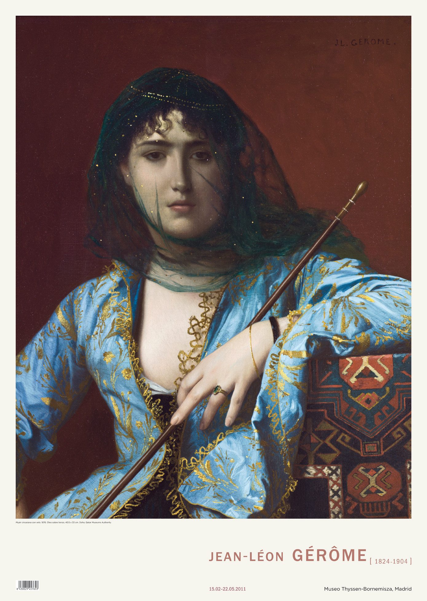 Poster Jean-Léon Gérôme. Femme circassienne
