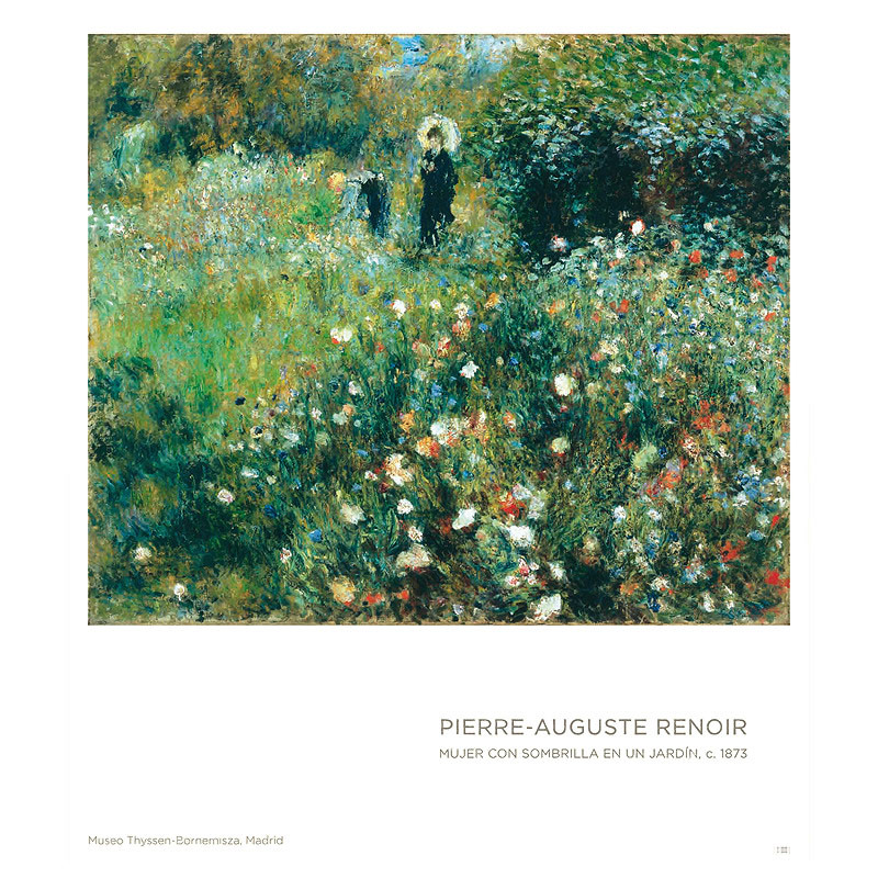 Poster Woman with a Parasol in a Garden by Renoir