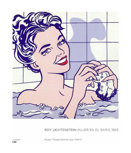 Poster Roy Lichtenstein. Woman in Bath, 1963
