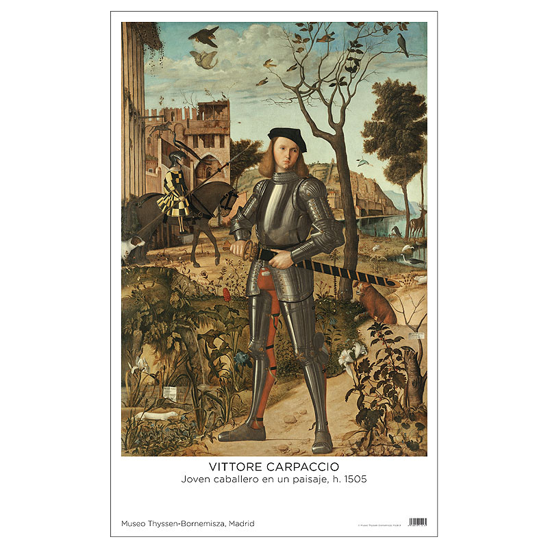 Poster Carpaccio: Joven Caballero en un Paisaje