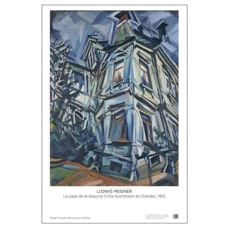 Poster Ludwig Meidner: The Corner House