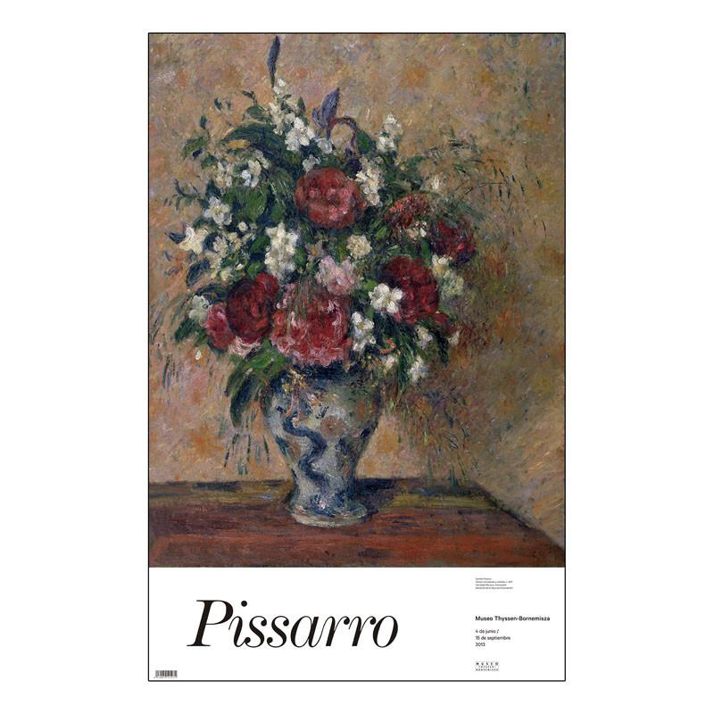 Poster Pissarro: Florero con Peonías y Celindas