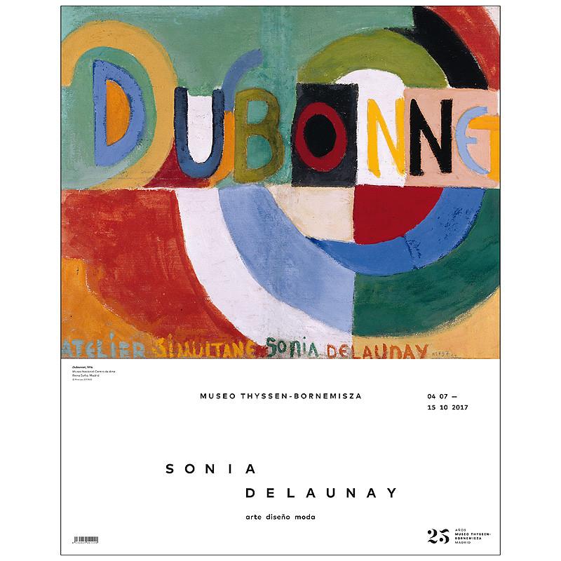 Exhibition Poster Sonia Delaunay. Art, Design, Fashion: Dubonnet