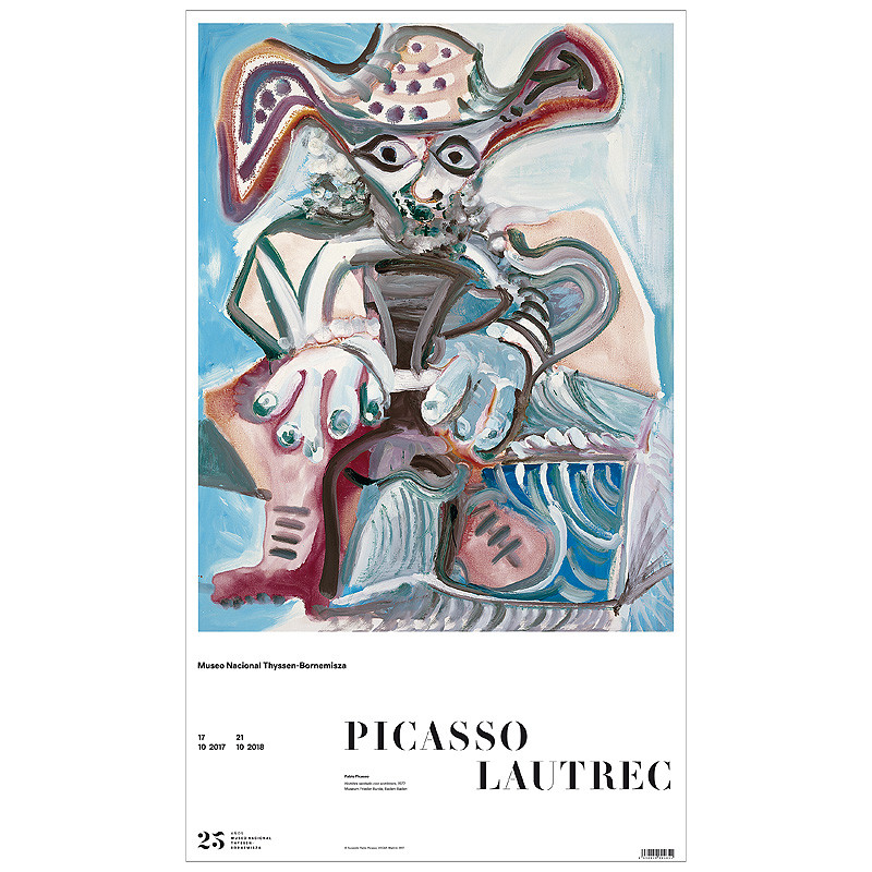 Poster Seated Man with a Hat (Pablo Picasso)