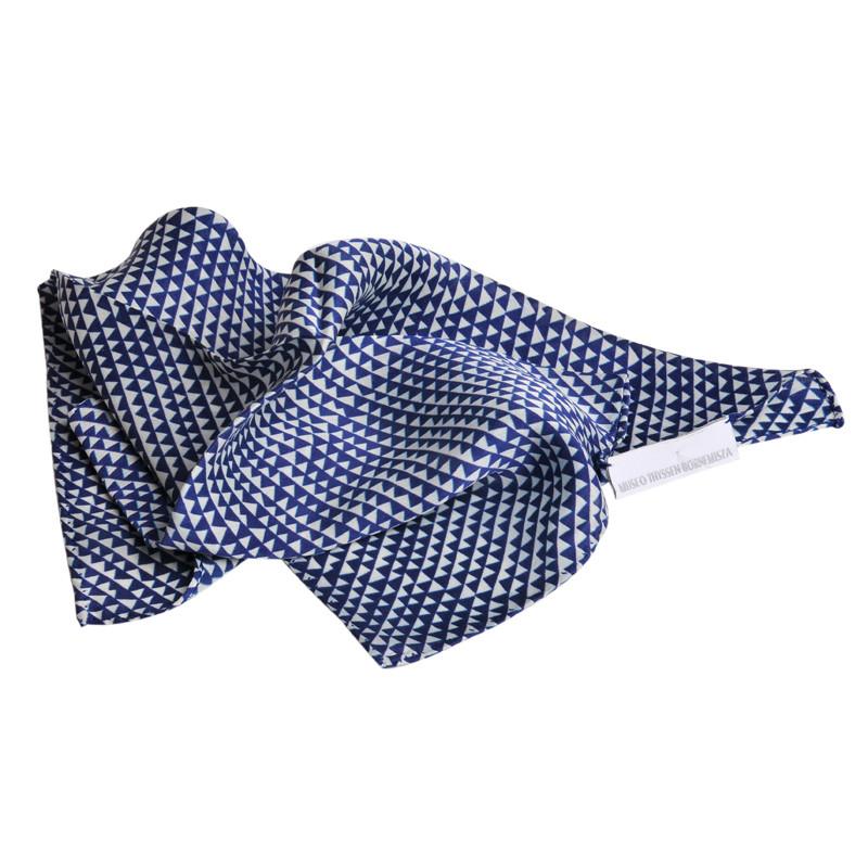 Sonia Delaunay blue & white Silk Scarf
