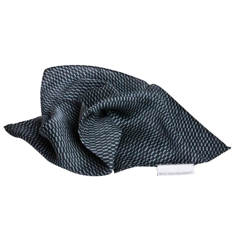 Sonia Delaunay Green & Black Silk Scarf