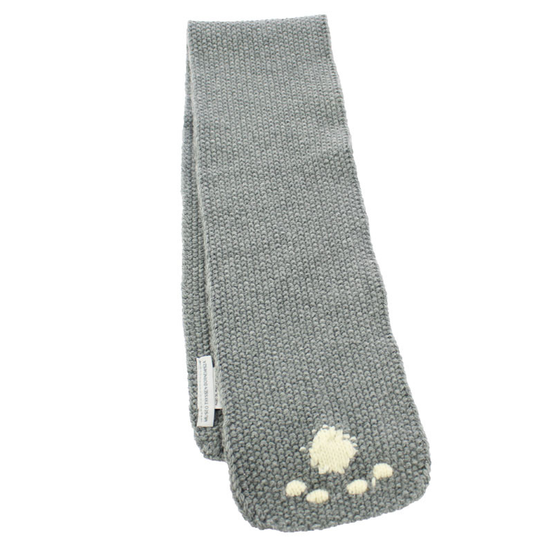 The Street Cat Footprints Scarf by Balthus