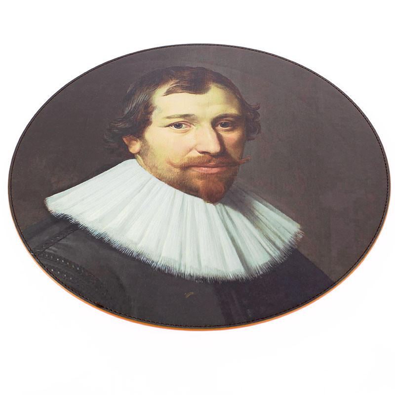 Round Leatherette Placemat. Nicolaes Eliaz Portrait of a Man