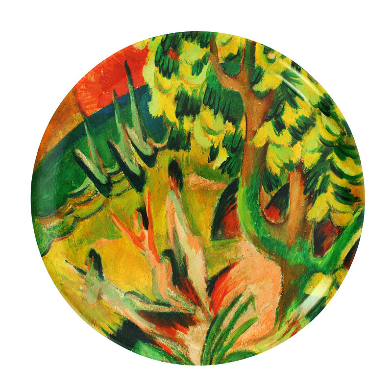Round tray Kirchner: Curving Bay