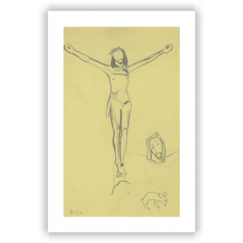 """Sketch for """"""""The Yellow Christ"""""""""""