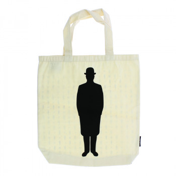 Magritte silhouette tote bag
