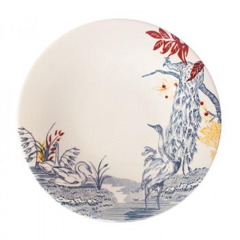 Cartuja x Garden of Eden Porcelain Dessert Plate