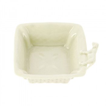 "Porcelain Square Bowl ""Dog"""