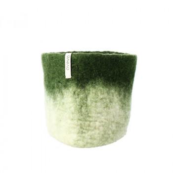 O'Keeffe small green wool basket