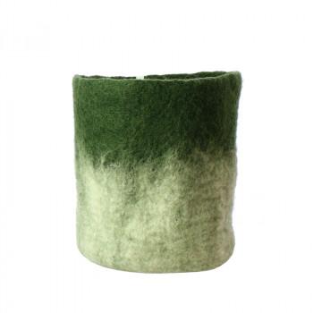 O'Keeffe Medium green wool basket