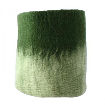 O'Keeffe large green wool basket