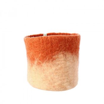O'Keeffe small terracotta wool basket