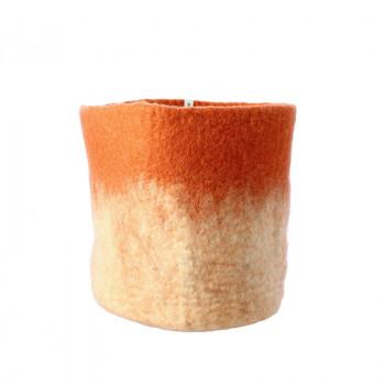 O'Keeffe Medium terracotta wool basket