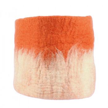 O'Keeffe Large terracotta wool basket
