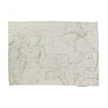 O'Keeffe linen placemat