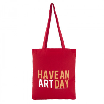 "Red ""Have An Art Day"" Tote bag"