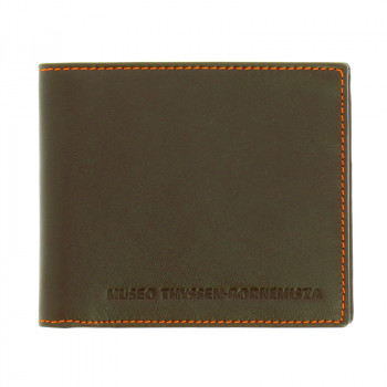 Dark Brown and Yellow Wallet