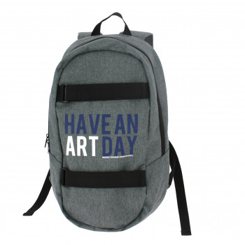 """Backpack gray """"Have an art day"""""""