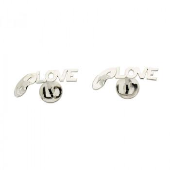 Love, Love, Love Silver Cufflinks
