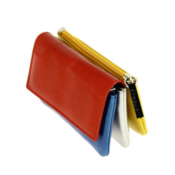 Mondrian Leather Coin Purse