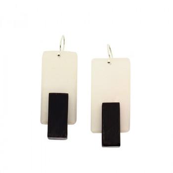 Paloma Canivet x O'Keeffe white earrings