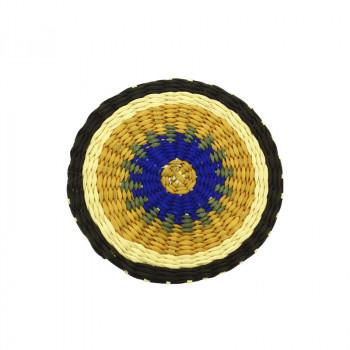 Yellow Circle Delaunay brooch