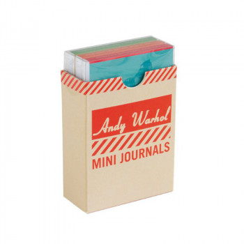 Mini journal set Andy Warhol Mitos del Pop