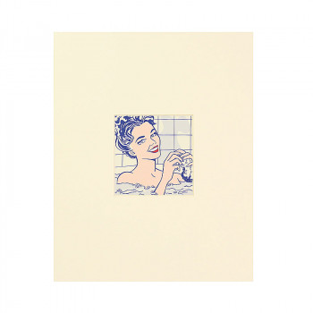 Passe partout postcard Woman in the Bath