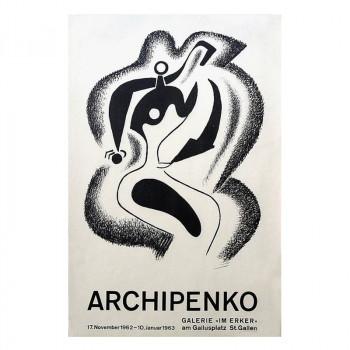 Erker Gallery cartel. Archipenko. 1963