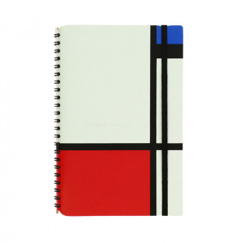 Recycled leather notebook Mondrian