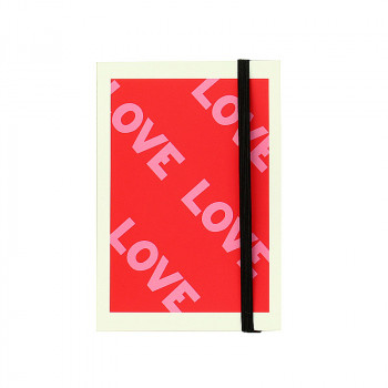 Love,Love,Love notebook with elastic band