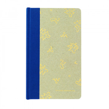 Blue cardboard notebook