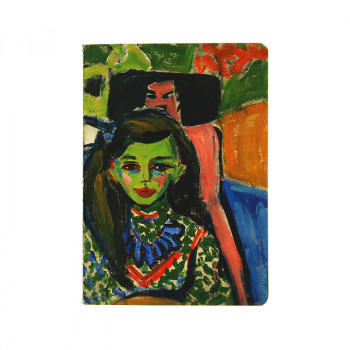 Notebook Kirchner: Fränzi in front of Carved Chair