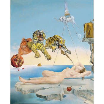 Poster Salvador Dalí: Dream caused by the Flight of a Bee around a Pomegranate a Second before Waking up